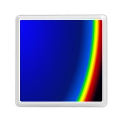 Blue Wallpaper With Rainbow Memory Card Reader (square)