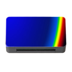 Blue Wallpaper With Rainbow Memory Card Reader with CF