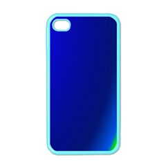 Blue Wallpaper With Rainbow Apple Iphone 4 Case (color)