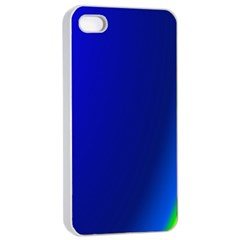 Blue Wallpaper With Rainbow Apple Iphone 4/4s Seamless Case (white)