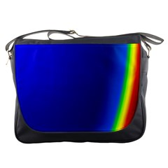 Blue Wallpaper With Rainbow Messenger Bags