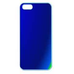 Blue Wallpaper With Rainbow Apple Seamless iPhone 5 Case (Color)