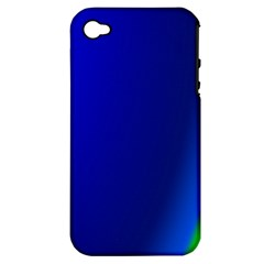 Blue Wallpaper With Rainbow Apple iPhone 4/4S Hardshell Case (PC+Silicone)