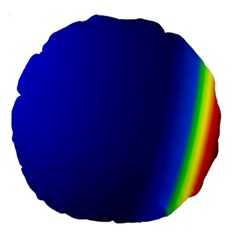 Blue Wallpaper With Rainbow Large 18  Premium Round Cushions