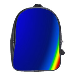 Blue Wallpaper With Rainbow School Bags (xl)