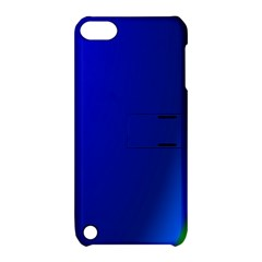 Blue Wallpaper With Rainbow Apple iPod Touch 5 Hardshell Case with Stand