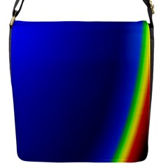 Blue Wallpaper With Rainbow Flap Messenger Bag (S)