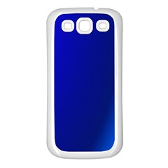 Blue Wallpaper With Rainbow Samsung Galaxy S3 Back Case (White)