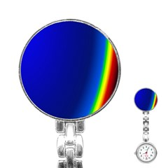 Blue Wallpaper With Rainbow Stainless Steel Nurses Watch