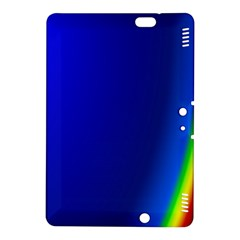 Blue Wallpaper With Rainbow Kindle Fire HDX 8.9  Hardshell Case