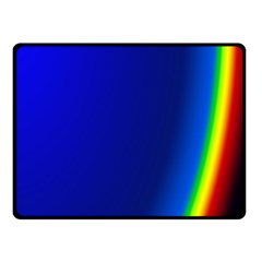 Blue Wallpaper With Rainbow Double Sided Fleece Blanket (small)