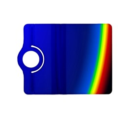 Blue Wallpaper With Rainbow Kindle Fire Hd (2013) Flip 360 Case