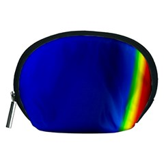 Blue Wallpaper With Rainbow Accessory Pouches (Medium)
