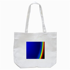 Blue Wallpaper With Rainbow Tote Bag (white)