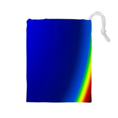 Blue Wallpaper With Rainbow Drawstring Pouches (Large)