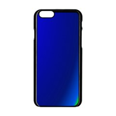 Blue Wallpaper With Rainbow Apple iPhone 6/6S Black Enamel Case