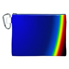 Blue Wallpaper With Rainbow Canvas Cosmetic Bag (xxl)