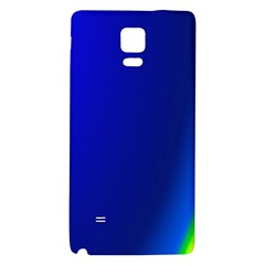 Blue Wallpaper With Rainbow Galaxy Note 4 Back Case