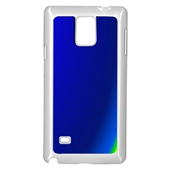 Blue Wallpaper With Rainbow Samsung Galaxy Note 4 Case (white)