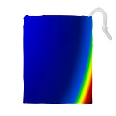 Blue Wallpaper With Rainbow Drawstring Pouches (extra Large)