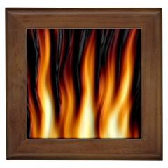 Dark Flame Pattern Framed Tiles