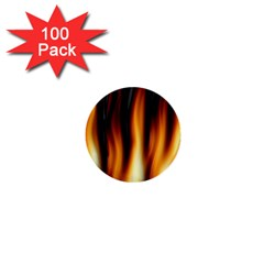 Dark Flame Pattern 1  Mini Buttons (100 Pack)