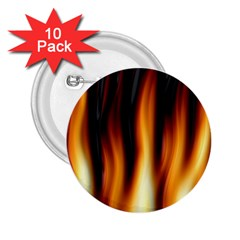 Dark Flame Pattern 2 25  Buttons (10 Pack)