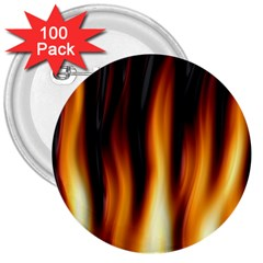 Dark Flame Pattern 3  Buttons (100 Pack)