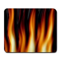 Dark Flame Pattern Large Mousepads