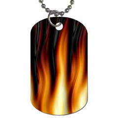 Dark Flame Pattern Dog Tag (Two Sides)