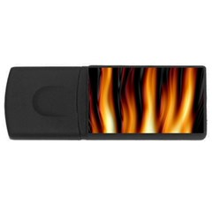 Dark Flame Pattern USB Flash Drive Rectangular (2 GB)