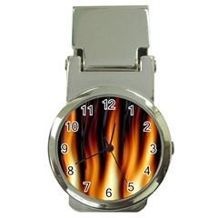 Dark Flame Pattern Money Clip Watches