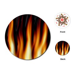 Dark Flame Pattern Playing Cards (round)