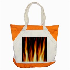 Dark Flame Pattern Accent Tote Bag