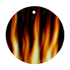 Dark Flame Pattern Round Ornament (Two Sides)