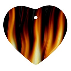 Dark Flame Pattern Heart Ornament (Two Sides)