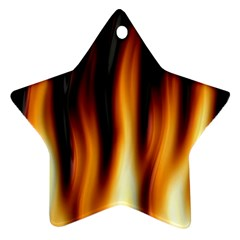 Dark Flame Pattern Star Ornament (two Sides)