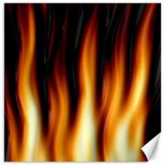 Dark Flame Pattern Canvas 12  X 12