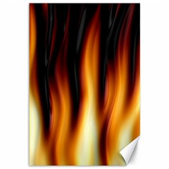 Dark Flame Pattern Canvas 12  X 18