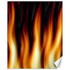 Dark Flame Pattern Canvas 16  x 20