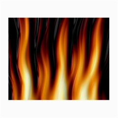Dark Flame Pattern Small Glasses Cloth (2-Side)