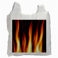 Dark Flame Pattern Recycle Bag (One Side)
