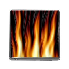 Dark Flame Pattern Memory Card Reader (Square)