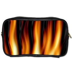 Dark Flame Pattern Toiletries Bags
