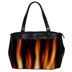Dark Flame Pattern Office Handbags