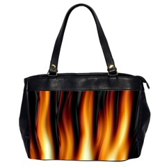 Dark Flame Pattern Office Handbags (2 Sides)