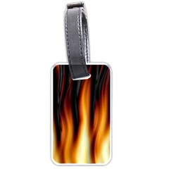 Dark Flame Pattern Luggage Tags (One Side)
