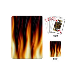 Dark Flame Pattern Playing Cards (mini)