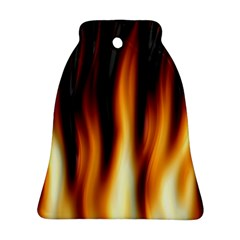 Dark Flame Pattern Bell Ornament (two Sides)