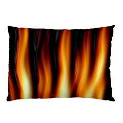 Dark Flame Pattern Pillow Case (two Sides)